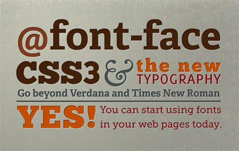 font design using css web fonts custom fonts using font face designmodo