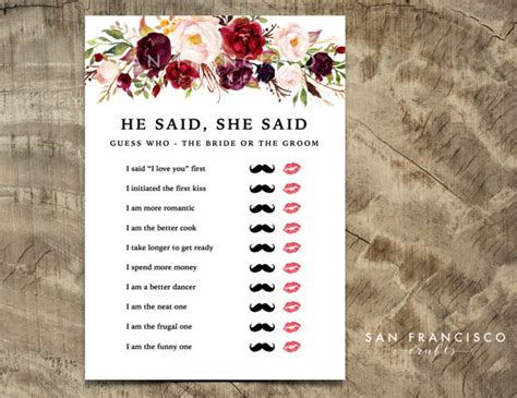 he said she bridal shower he said she said bridal shower mustache