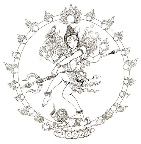 india coloring pages for adults adult coloring page india shiva 10