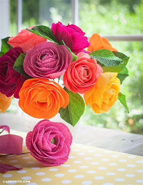 How To Make Paper Ranunculus - crepe paper ranunculus beautiful flower and crepe paper