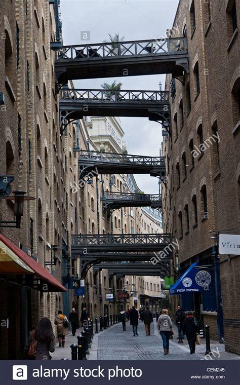 shad thames london bridges joining old warehouses along shad thames london
