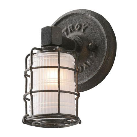 Troy Lighting Mercantile 1 Light Vintage Bronze Vanity Troy Light Fixtures