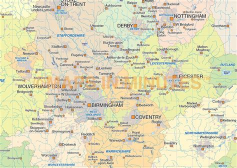 map of central uk digital vector central map in illustrator cs and