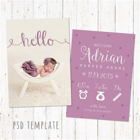 Baby Card Template Photoshop by 17 Best Images About Etsy On Gift Certificate