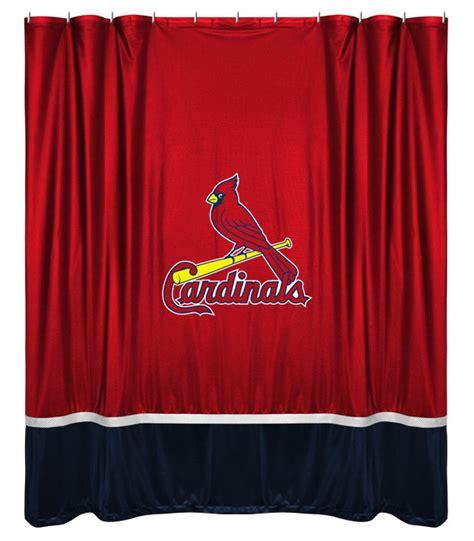 curtains st louis st louis cardinals shower curtain