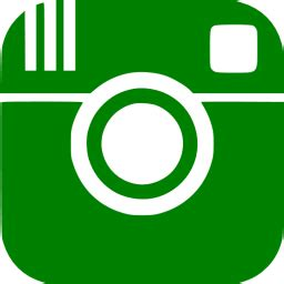green instagram icon  green social icons