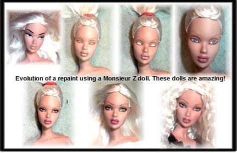 fashion doll tutorial 65 besten ooak repaint bilder auf