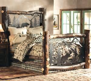 King size log bed frames bed create