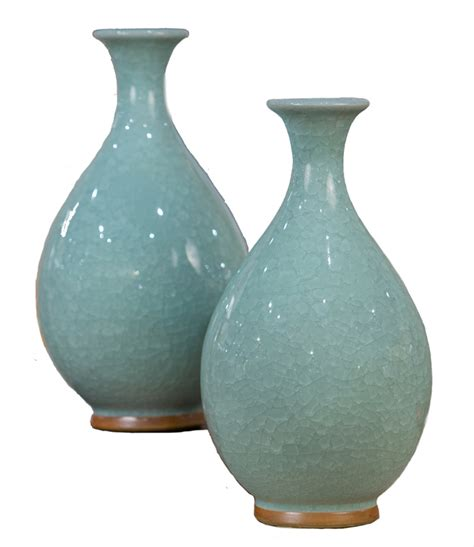 celedon crackle vase home decor