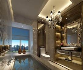 luxury bathroom interior design by european style 3d