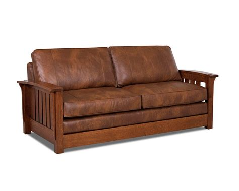 comfort design palmer leather sofa cl7023s mission style