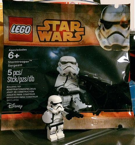Lego Wars Stormtrooper Sergeant Polybag lego wars stormtrooper sergeant 5002938 minifigure