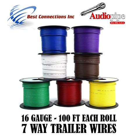 7 way cord trailer wire harness light cable led