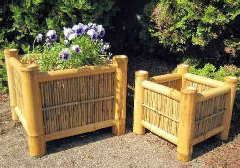 Bamboo Planter Boxes by Bamboo Square Planter