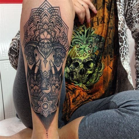 tattoo flower indian 40 indian elephant tattoos and ideas