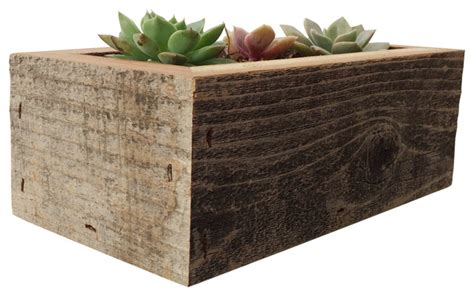 indoor wood planter reclaimed wood succulent planter rustic indoor pots