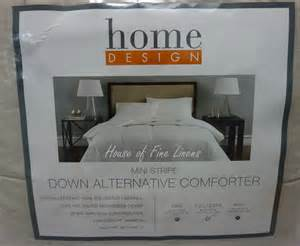 Home Design Mini Stripe Down Alternative Queen Comforter | home design mini stripe down alternative full queen