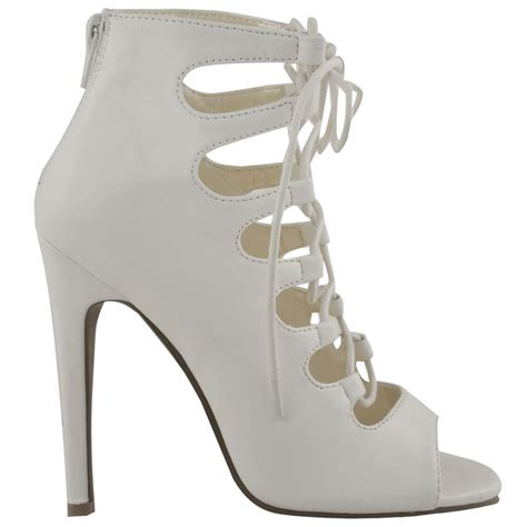 high heels with lace up womens high heels stilettos lace up gladiator peep