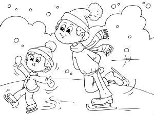 imagenes de invierno para niños para colorear dibujos de invierno para colorear paracolorear net