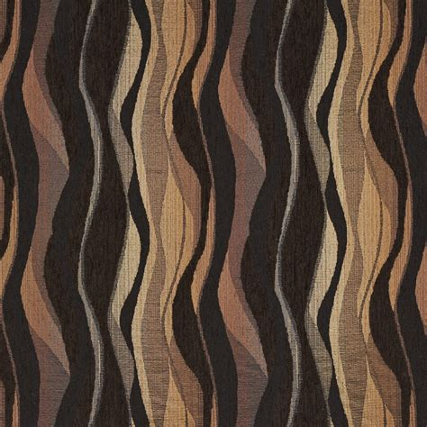 Black Chenille Upholstery Fabric - brown and black abstract striped chenille upholstery