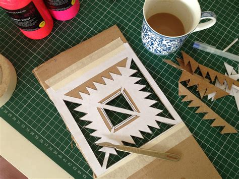 fabric pattern stencils ideas adventures in fabric painting by hand london