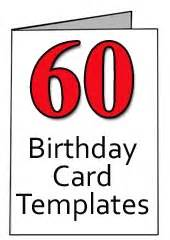 free 60th birthday card templates for word