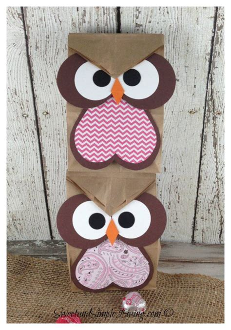 How To Make A Paper Bag Owl - 25 best ideas about owl treat bags on owl