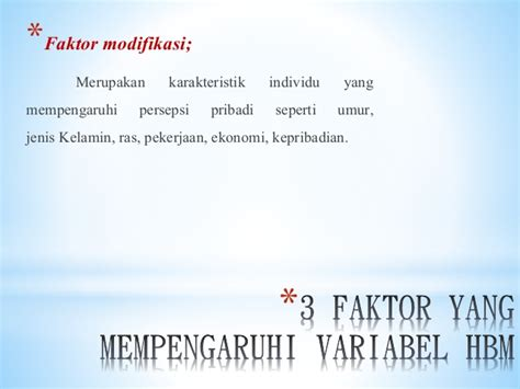 Teori Kepribadian By Tb Moralin health belief model