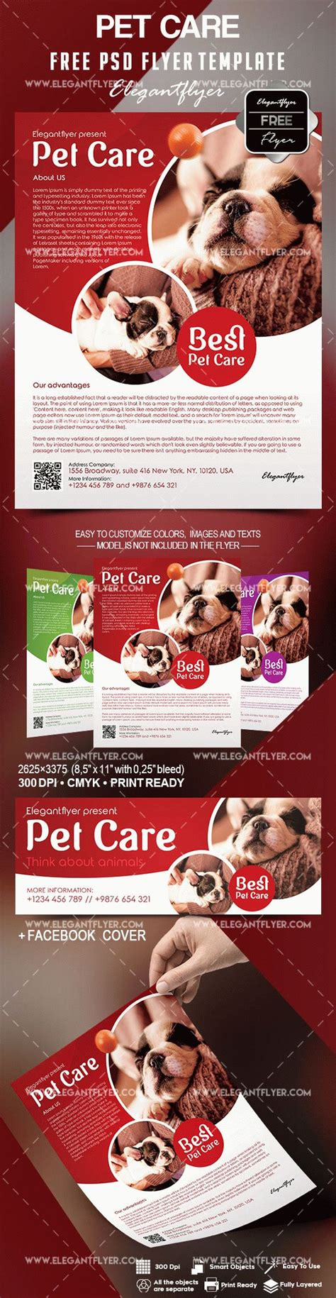 free pet care flyer template by elegantflyer
