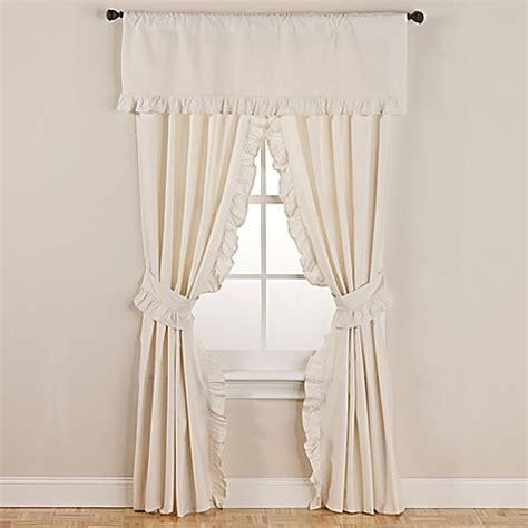 ruffle tie back curtains buy smoothweave 96 inch ruffled rod pocket window curtain