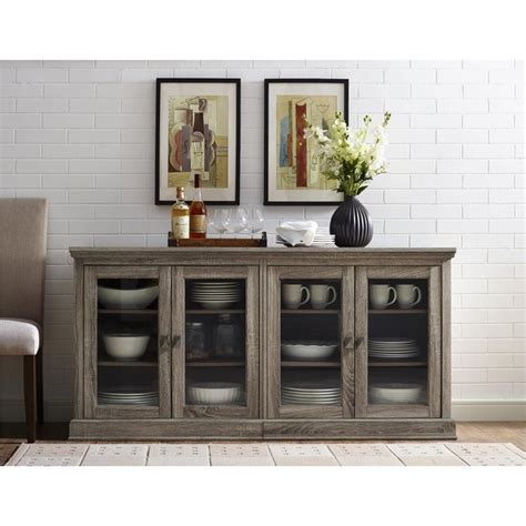Oak Tv Cabinet With Glass Doors 70 Tv Stand With Glass Doors In Sonoma Oak 1784096pcom