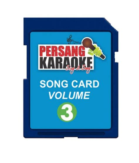 song cards persang song card vol 3 for persang karaoke mic series