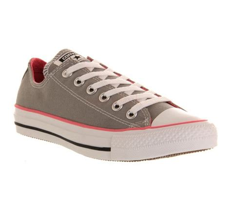Convers Low Unisex simple converse unisex all low grey pink canvas 49928331