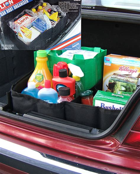 Car Boot Organizer car boot organizer with 3 compartments and 2 pockets