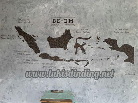 lukisan peta indonesia paimin gambar