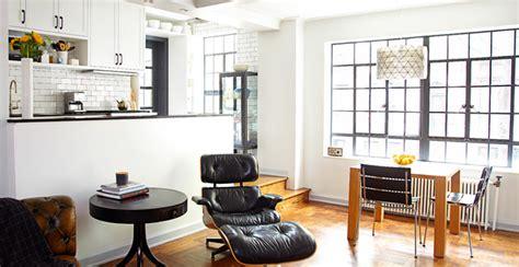 New York Apartment Kitchen Renovation Deco Apartment Combination Renovation Transitional