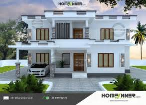 modern flat roof 4 bhk budget home design in 2163 sqft