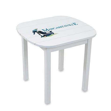 margaritaville outdoor wood side table in blue buy margaritaville 174 wood side table in blue from