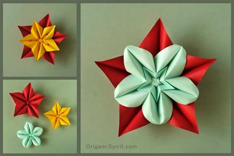 Origami Plants - how to make an origami flower and variations