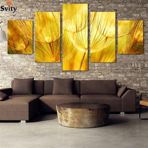 panel wall art gold flower oil painting  canvas quartz
