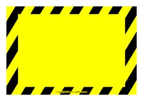 caution sign template primary classroom safety health and hygiene signs