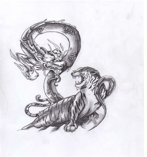 tattoo dragon tiger meaning japanese tiger and dragon tattoo meaning images