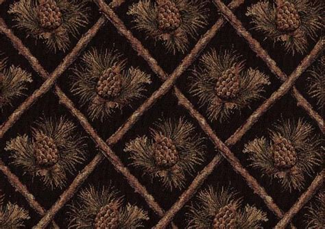 Cabin Upholstery Fabric by Pinecone Upholstery Fabric Mountain Lodge Cabin Rustic
