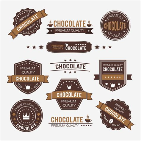 design logo label chocolate labels with logos vector set vector label