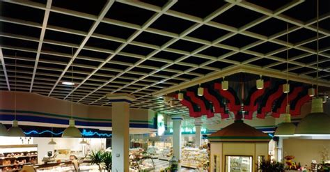 Chicago Grid Ceiling grid ceiling food court top