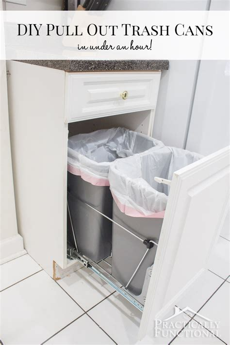cabinet trash can kit diy pull out trash cans in an hour