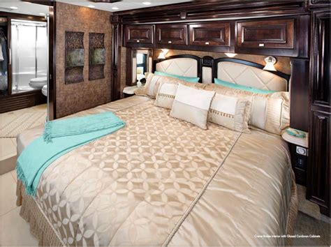 rv bedroom 2012 tiffin motorhome allegro bus bedroom creme