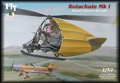 rotachute mk i one man rotor kite aircraft plastic model