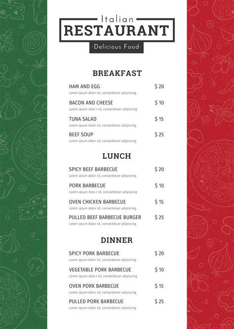 microsoft publisher menu templates free free italian menu template in adobe photoshop microsoft