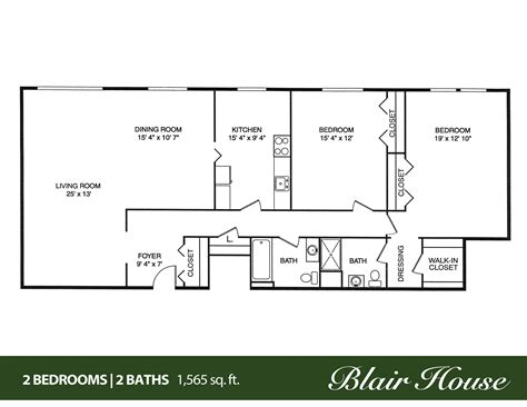 two bed two bath floor plans 2 bedroom 1 bath home floor plans escortsea